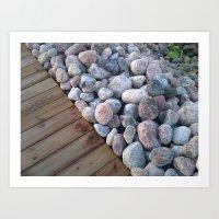 Wood&Stone Art Print