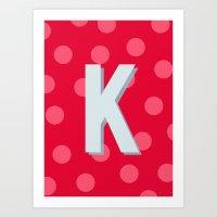 K is for Kindness Art Print
