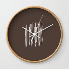Wood in Brown - Minimalist Feng Shui - by Friztin Wall Clock