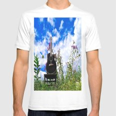 Playing the Field Mens Fitted Tee White SMALL