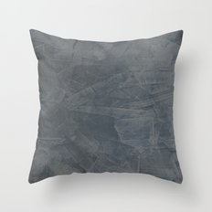 Slate Gray Stucco Throw Pillow
