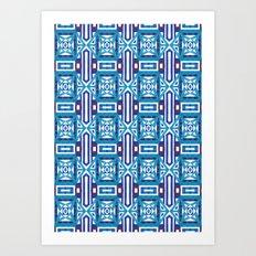 Ethnic Geometric Moroccan Watercolor Seamless Patern 2 Art Print