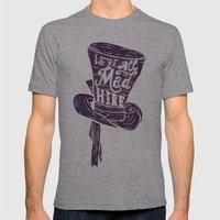 Alice In Wonderland Mens Fitted Tee Athletic Grey SMALL