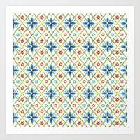 Millefiori Heraldic Lattice Art Print