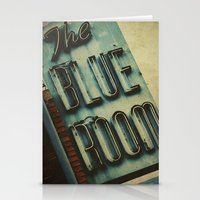 Blue Room Neon Sign Stationery Cards