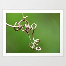 tangle vine 1 Art Print