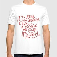 I'm Free Mens Fitted Tee White SMALL