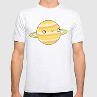 Saturn Mens Fitted Tee Ash Grey SMALL