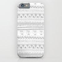 Grey aztec pattern iPhone 6 Slim Case