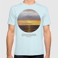 El mar amado ~ Beloved sea Mens Fitted Tee Light Blue SMALL