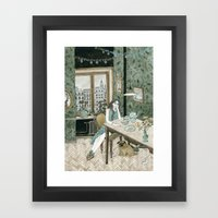 At Home With A Pug Framed Art Print
