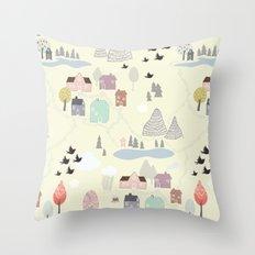 'Den Lilla Staden' Throw Pillow