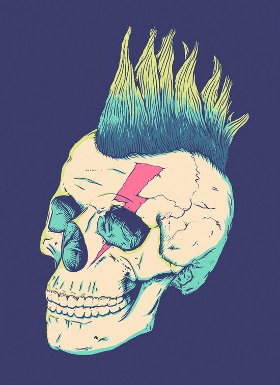Skull Punk Art Print