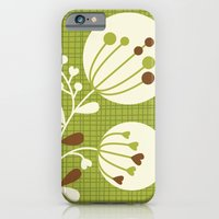 Retro Lime Bouquet iPhone 6 Slim Case