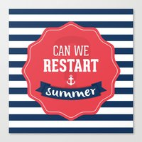 Can we restart summer Canvas Print