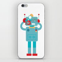 Robot Loves Diana iPhone & iPod Skin