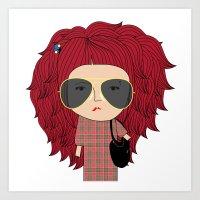 Mss Sunglasses Art Print