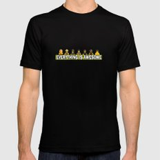 Everything Is Awesome SMALL Black Mens Fitted Tee