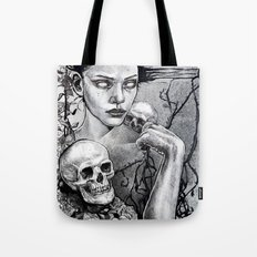 Skull Girl Nouveau Tote Bag