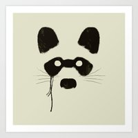 Raccoon {Light} Art Print