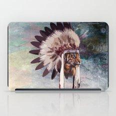 Tiger in war bonnet iPad Case