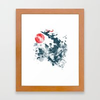 Go!Go! Surf Time! Framed Art Print