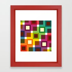 Colorful square pattern Framed Art Print