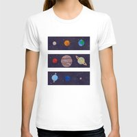 The 9 Planets! Womens Fitted Tee White SMALL