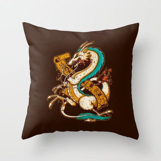 SPIRITED CREST Throw Pillow