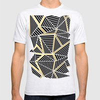 Ab Lines 2 Gold Mens Fitted Tee Ash Grey SMALL