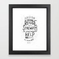 14/52: Psalm 46:1  Framed Art Print