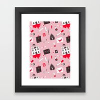 HAUNTED HOUSE (PINK VER) Framed Art Print