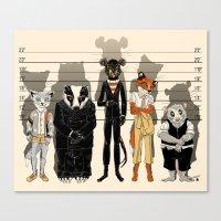 Unusual Suspects Canvas Print