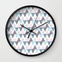 Tri Colour Two Wall Clock