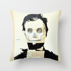 Abraham Lincoln (skull) Throw Pillow