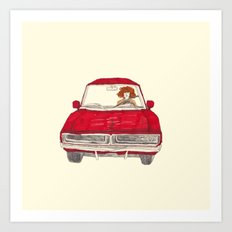 oh yeah today i got my driver's license! Art Print