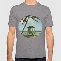 Beach Mens Fitted Tee Tri-Grey SMALL