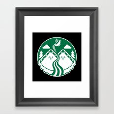 Twin Pies Coffee Framed Art Print