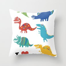 I love dinosaurs Throw Pillow