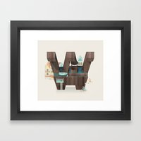 Resort Type - Letter W Framed Art Print