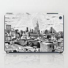 New York City - Fingerprint - Black ink iPad Case