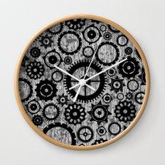 Grunge Cogs. Wall Clock
