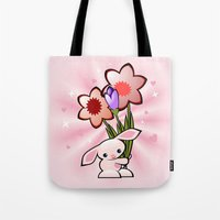 Little Pink Bunny With F… Tote Bag