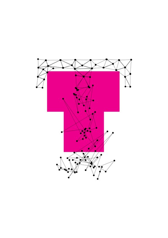 T (abstract geometrical type) Art Print