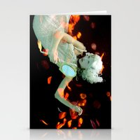 Girl Floating Stationery Cards