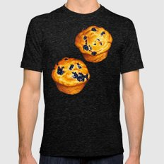 Blueberry Muffin Pattern Mens Fitted Tee Tri-Black SMALL