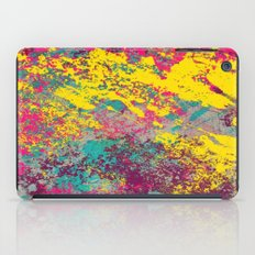Abstract TexTure Uno - Pink, Purple, Blue And Yellow iPad Case
