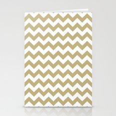 Chevron (Sand/White) Stationery Cards
