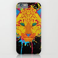 iPhone & iPod Case featuring Cat Series: Leopard  by UvinArt