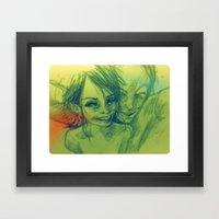 #besties Framed Art Print